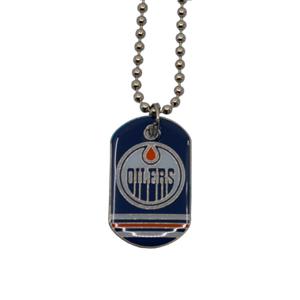 Přívěšek psí známka na řetízku NHL Edmonton Oilers