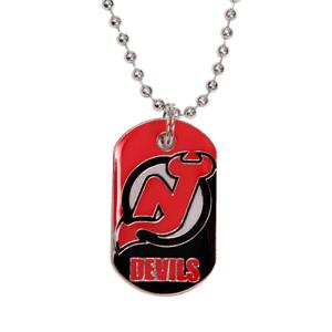 Přívěšek psí známka na řetízku NHL New Jersey Devils