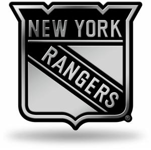 3D chrom znak na auto NHL New York Rangers