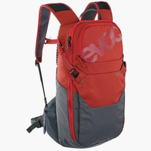Cyklistický batoh EVOC RIDE 12 + 2L Bladder Chilli red-carbon grey