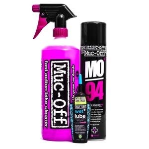 Sada Muc-Off Wash, Protect and WET Lube Kit