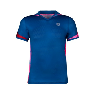 Pánské tričko BIDI BADU Tano Tech Polo Blue Pink