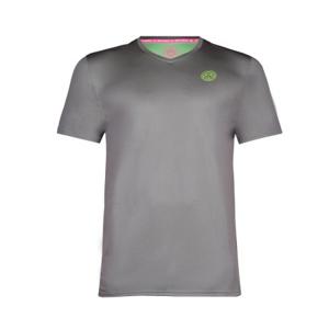 Pánské tričko BIDI BADU Ted Tech Tee Grey / Neon Green