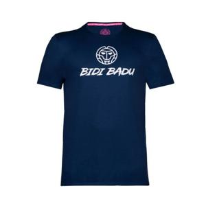 Pánské tričko BIDI BADU Vuyo Basic Logo Tee Dark Blue