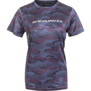 Dámské tričko Endurance Renai Printed S-S Tee fialové