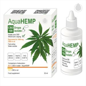 AquaHEMP CBD100 Drops isolate 100 ml