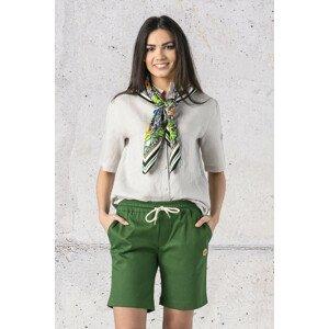 Nessi Krátké Bavlněné Kalhoty ISP-40 Green Velikost: XXL