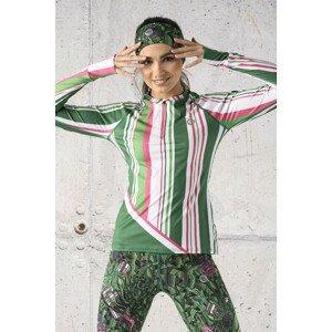 Nessi Tréninková mikina s průstřihem na sporttester LBKZ-13P7 Spectrum Green Velikost: S