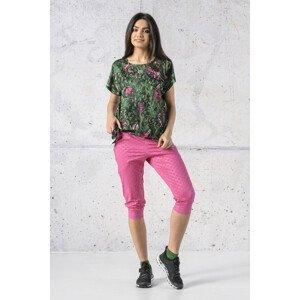 Nessi Volné 3/4 Sportovní Kalhoty SCC3-1120T Shiny Royal Pink Velikost: M