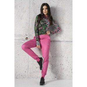 Nessi Tenké volné sportovní kalhoty SCCN-1120T Shiny Royal Pink Velikost: L