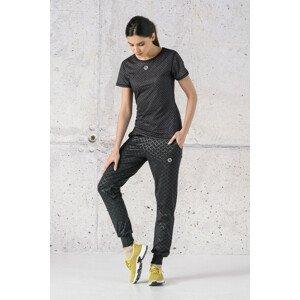 Nessi Tenké volné sportovní kalhoty SCCN-1190T Shiny Black Velikost: XL