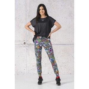 Nessi Tenké volné sportovní kalhoty SCCN-13M4 Mosaic Nature Velikost: XS