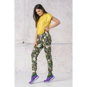 Nessi Tenké volné sportovní kalhoty SCCN-13W1 Wild Flowers Velikost: S