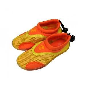 Alba Dětské neoprenové boty do vody žlutooranžové - EU 22