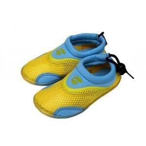 Alba Dětské neoprenové boty do vody žlutomodré - EU 25