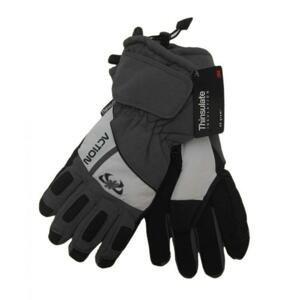 Action GS383-1 Pánské lyžařské rukavice šedé - XL
