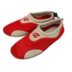 Alba Dámské neoprenové boty do vody šedočervené - EU 35