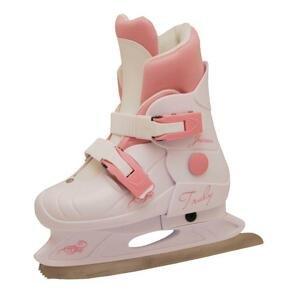 Truly Junior Růžové dívčí lední brusle - L (EU 37-40)