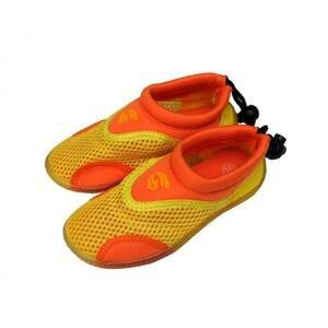 Alba Neoprenové boty do vody Junior žlutooranžové - EU 33