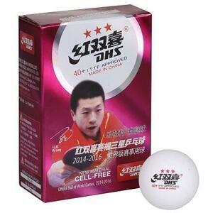 DHS Míčky na stolní tenis 40+ 3 hvězdy bílá - 6 ks
