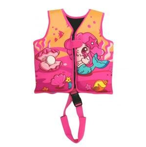 Dětská neoprenová plovací vesta Princess růžová 11-18 kg