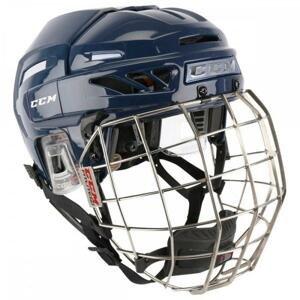 Hokejová helma CCM Fitlite 3DS Combo YTH - černá, Dětská, 47-55cm