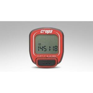 Crops F1008 drátový cyklocomputer - červený