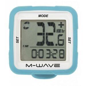 M-WAVE SILIKON 14 Funkcí modrý cyklocomputer