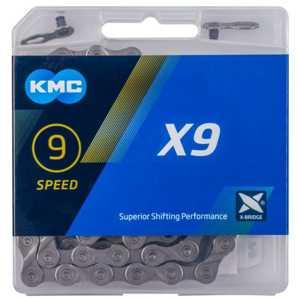 Kmc X9 šedý BOX řetěz