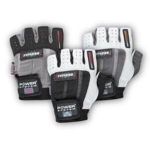 Power System rukavice FITNESS - White black XXL (dostupnost 7 dní)