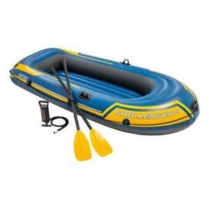 Intex CHALLENGER 2 Set yellow člun nafukovací - Modrá