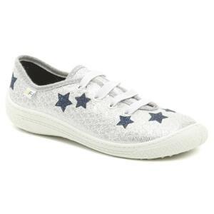 3F dětské stříbrné tenisky s hvězdami 4BT14-6 - EU 35