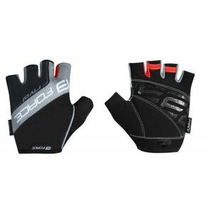 Force RIVAL černo-šedé cyklistické rukavice - černo-šedé L