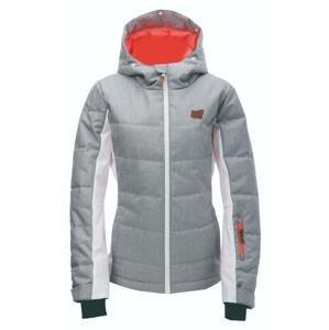 2117 BJÖRNÖ tm.šedá dámská lyžařská bunda - 38