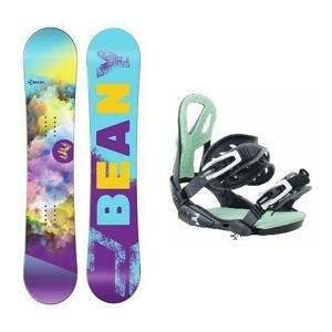 Beany Meadow dívčí snowboard + vázání Beany Teen - 135 cm