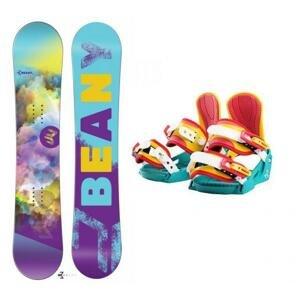 Beany Meadow dívčí snowboard + vázání Beany Junior - 140 cm + S - EU 32-37 (200-235mm)