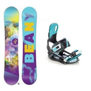 Beany Meadow dámský snowboard + vázání Raven Starlet black/mint - 140 cm + M (EU 39-42)