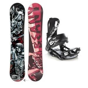Beany Hell snowboard + vázání Raven Fastec FT 270 - 155 cm + M (EU 39–41)