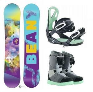 Beany Meadow dámský snowboard + vázání Beany Teen + boty Beany Ninja - 135 cm