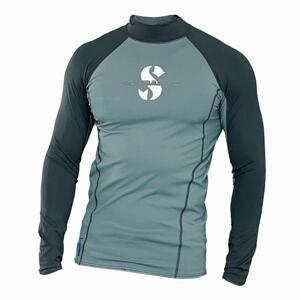 Scubapro Pánské lycrové triko T-FLEX GRAPHITE UPF80, dlouhý rukáv - M