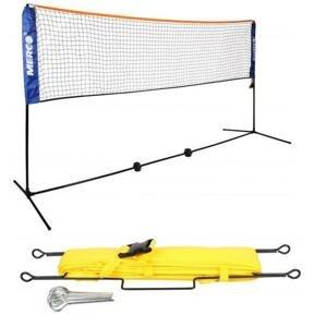 Merco badminton tenis set 3m stojany na kurt vč sítě + Merco Lajny 9 x 3m