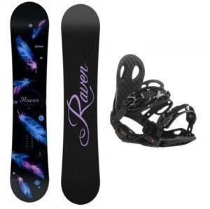 Raven Mia Black dámský snowboard + Gravity G2 Lady black 19/20 vázání - 153 cm + L (EU 42,5-43)