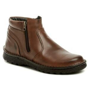 Bukat 253 hnědé pánské zimní boty - EU 45