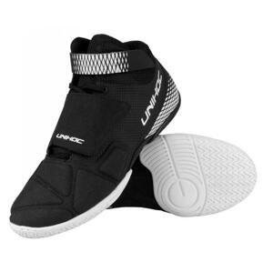 Unihoc U4 GOALIE Black brankařské boty + míčky 4-pack - EU 45