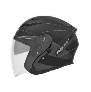 Nox Přilba N127 FUSION, (černá matná/šedá/stříbrná) - S : 55-56 cm