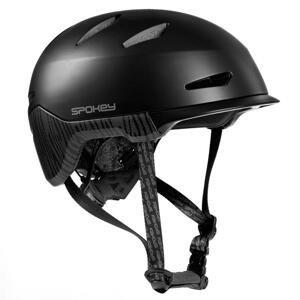 Spokey DOWNTOWN Přilba pro dospělé IN-MOLD, 55-61 cm, černá - Spokey DOWNTOWN Cyklistická přilba BMX pro dospělé IN-MOLD, 58-61 cm, černá