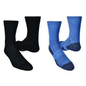 Vavrys LIGHT TREK CMX 2020 2-pack ponožky - 43-45 - černá+šedá