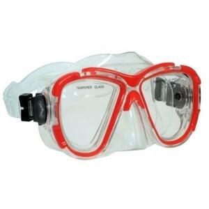Scubia Potápěčská maska ESCUBIA Nadir Senior - Červená
