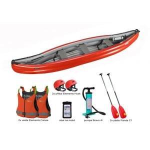 Gumotex Scout Standart SET 3 kanoe (v ceně 2x pádla, 2x vesty, 2x přilba, pumpa, vak, lepení) + sleva 1000,- na příslušenství - červeno-šedá loď