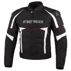 Street Racer Bunda na motorku Spark černo-bílo-červená - 5XL